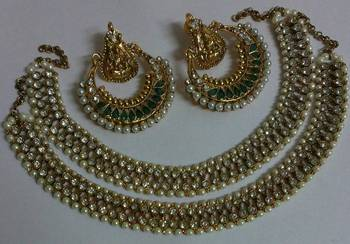 Traditional Anklets with Ram Leela Earings
