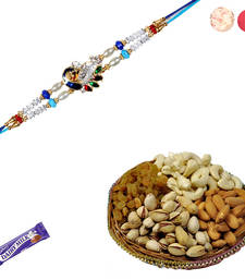 Buy Designer rakhi with dryfruits rakhi-gifts-for-brother online