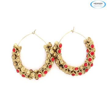 Party wear diamond earrings