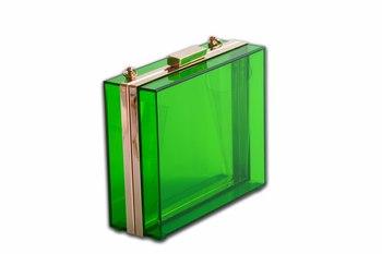 Green Acrylic Clutch