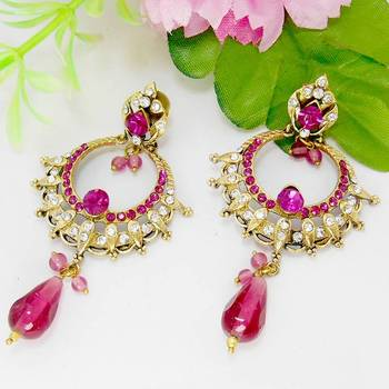 Victorian Designer Danglers Queen Pink