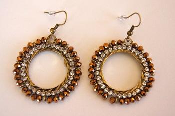 Diamond earrings with swarovski elements