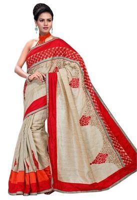Triveni Fashionable Thread Embroidered Festive Saree TSRH1013