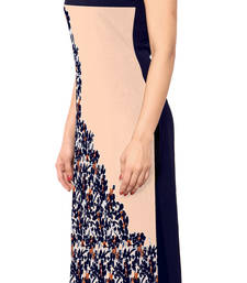 Buy Beige printed stitched kurti long-kurtis online
