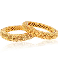Buy Beautifully detailed Gold plated Antique Bangles bangles-and-bracelet online