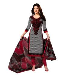 Buy Multicolor printed cotton unstitched salwar with dupatta cotton-salwar-kameez online