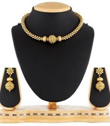 Buy Traditional golden ball necklace set imitation jewellery necklace-set online