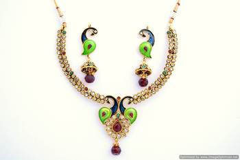 Peacock Necklace Set 3