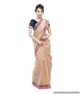 Banarasi Handloom Kora Silk Saree with Resham Work and Booti