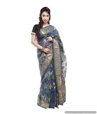 Banarasi Handloom Kora Silk Saree