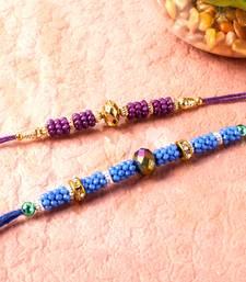 Buy Set of two threads of beads rakhi thread-rakhi online