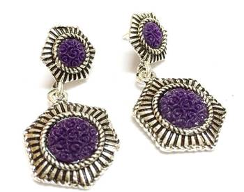 Purple Oxodise Earrings Craftstages