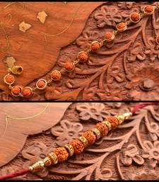 Buy two Multicolour Beaded Rakhi bhaiya-bhabhi-rakhi online