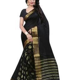 Buy black woven banarasi silk saree With Blouse kanchipuram-silk-saree online