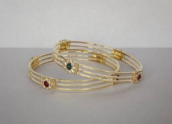 Contemporary Style Bangles Set of 2