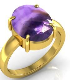 Buy Katela 7.5 cts or 8.25 ratti Amethyst Ring Ring online