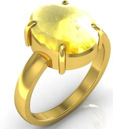 Buy Sunehla 9.3 cts or 10.25 ratti Citrine Ring Ring online