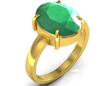 Haqiq 9.3 cts or 10.25 ratti Green Onyx Ring