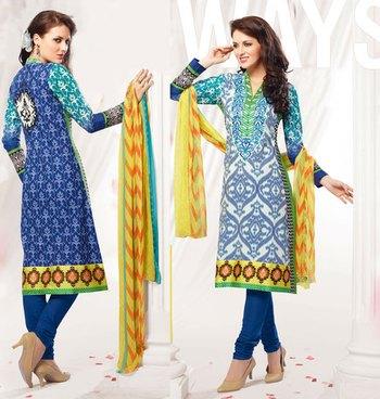 Hypnotex Blue Cotton Dress materials Payal 901