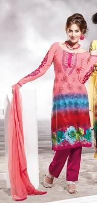 Cotton Embellished Salwar kameez Dress Material SC8140B