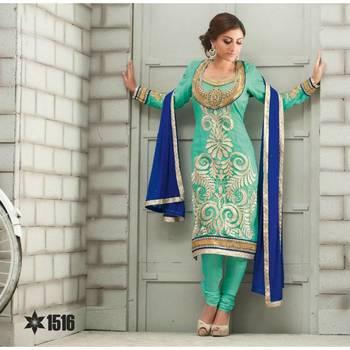 Charming Sky Blue Salwar Kameez - TBSURIV1516