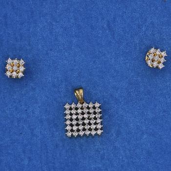 Ethnic Diamond Pendant Set