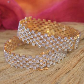 Smart american diamond bangles