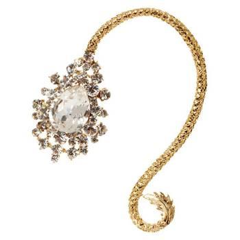 Via Mazzini French Twist Ear Cuff Earring (Left Ear)