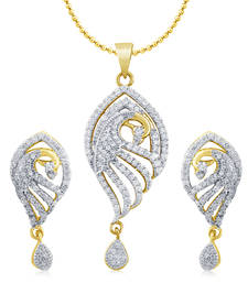 Buy High Gold Plated Look with Drops Pendant online