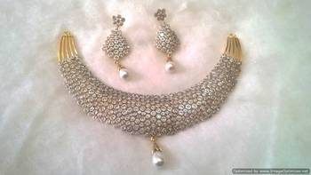 Chik Patti AD Necklace Set