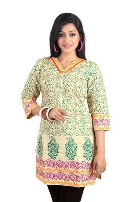 Triveni Lovely Artistic Floral Printed Cotton Kurti 1022