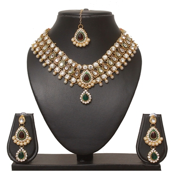creative gold-plated diamond stone necklace sets