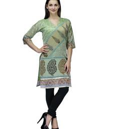Buy Green cotton woven stitched kurti kurtis-below-250 online