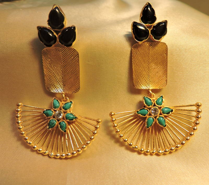 with multi by emerald large diamond gold loading earrings tourmaline carved amrapali