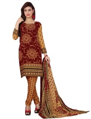 Triveni Charming Maroon Colored Casual Wear Indian Traditional Salwar Kameez
