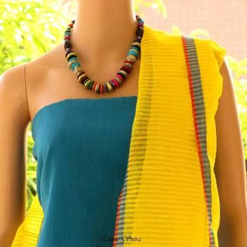 Yellow Silk n Linen