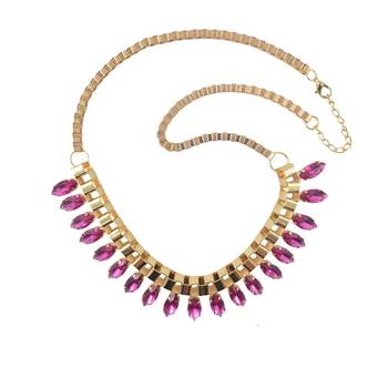 Rose De France Amethyst Luxury Statement Necklace