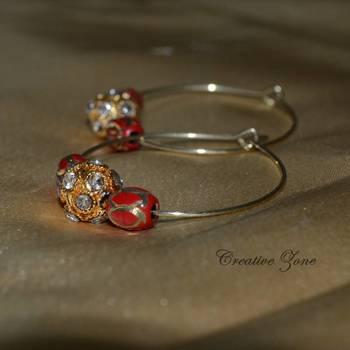 Ravishing  Desi Red Earring