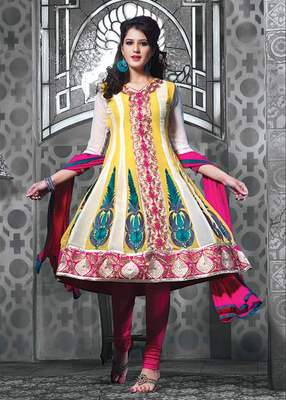 Designer Anarkali Dress Material SC1126