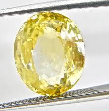 7.25 carat certified yellow sapphire pukhraj gemstone