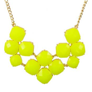 DIOVANNI Sunshine Yellow Yippee Statement Necklace