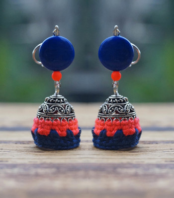 Gorgeous Pink Blue jhumka
