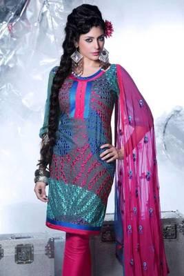 Cotton Embroidered Salwar kameez Dress Material SC1509