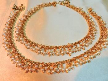 wedding gold plated royal polki payal
