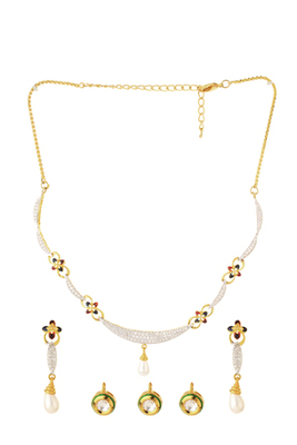KNOWLEDGE Collection Changeable Drop Fashion Fusion Necklace Set For Women