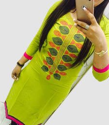 Buy Perrot embroidered georgette semi stitched kurti Woman online
