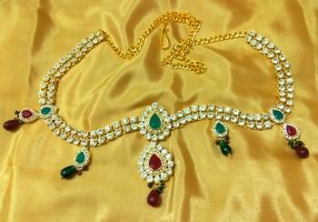 Amazing Austrian Diamonds Multicolor Waist Belt Kamarband Belly Chain