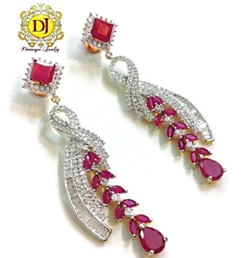 Gorgeous ruby party earrings