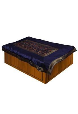 Blue Embroidery Single Bedsheet