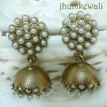 Pearl Jhumkas